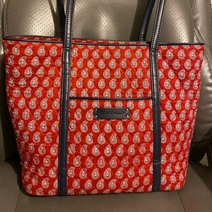 Red & White Quilted Vera Bradley Tote
